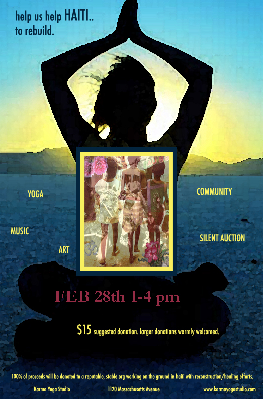 Yoga Haiti Benefit Flyer